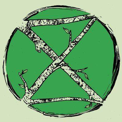 XR logo with branches